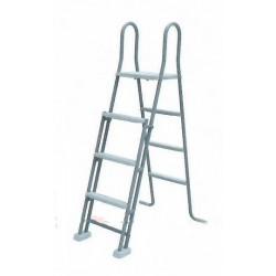 Escalera de seguridad GRE 2x3 peldaños con plataforma- Piscina de superficie
