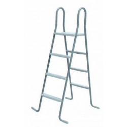 Escalera standard GRE 2x3 peldaños, con plataforma - Piscina de superficie - 2x3 Peldaños