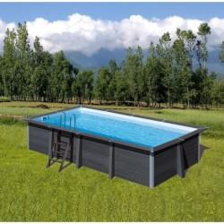 Piscina de composite GRE - Rectangular 606x326x124 cm - Filtro arena