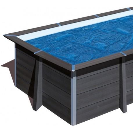 Cubierta isotérmica GRE para piscina de composite cuadrada 326x326 cm- CVKPCOR28