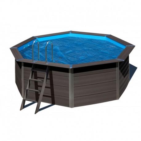 Cubierta isotérmica GRE para piscina de composite ovalada  Ø 410cm- CVKPCO41