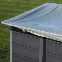 Cubierta de invierno GRE para piscinas de composite cuadrada 326 x 326 cm – CIKPCOR28