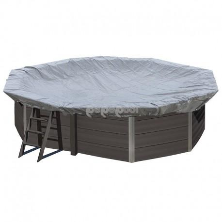 Cubierta de invierno GRE para piscinas de composite ovalada 664 x 386 cm – CIKPCO66