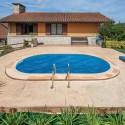 Cubierta isotérmica GRE para piscina ovalada enterrada 800 x 400 cm- CVPE800