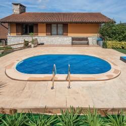 Cubierta isotérmica GRE para piscina ovalada enterrada 700 x 320 cm- CVPE700