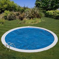 Cubierta isotérmica GRE para piscina redonda enterrada Ø 420 cm- CVPE420