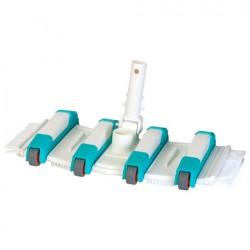 Limpiafondos manual 8 ruedas y cepillos laterales