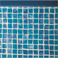 Liner gresite 50/100 - Sistema colgante - Piscina Ovalada 730x375x120