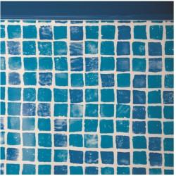 Liner gresite 50/100 - Sistema colgante - Piscina Ovalada 500x300x120