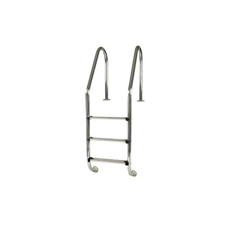 Escalera Standard de acero inoxidable GRE para piscina enterrada - 3 peldaños