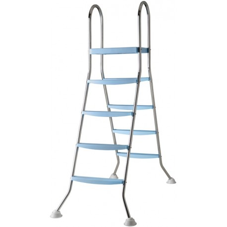 Escalera de acero inoxidable 142 cm para piscina de superficie - 2x4 peldaños
