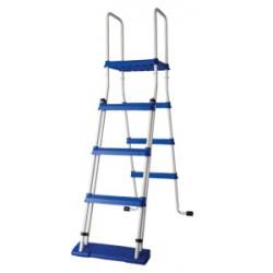 Escalera de seguridad GRE 134 cm con plataforma piscina de superficie - 2x3 peldaños