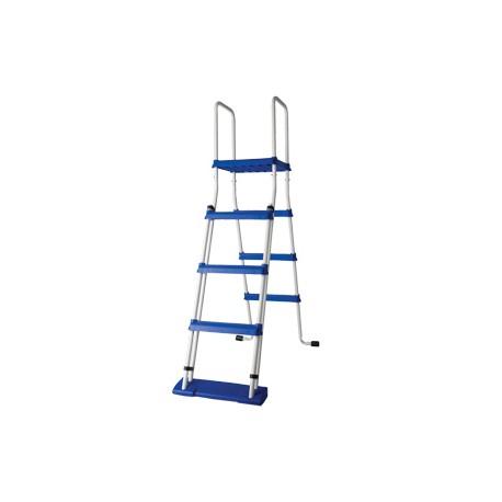 Escalera de seguridad gre 134 cm con plataforma piscina de for Escalera piscina gre