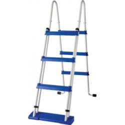 Escalera de seguridad GRE 120 cm para piscina de superficie - 2x3 peldaños