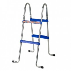 Escalera de tijera GRE 98 cm para piscinas de superficie - 2x2 peldaños