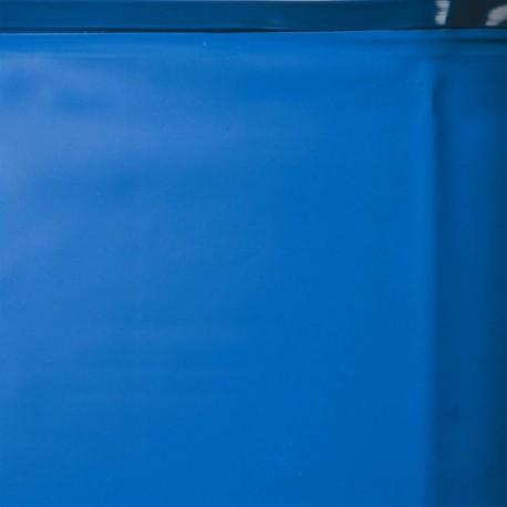 Liner azul 40/100 - Sistema colgante - Piscina Ovalada 625x375x120