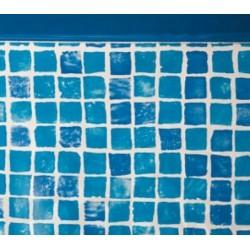 Liner gresite 50/100 - Sistema colgante - Piscina Ovalada 730x375x132