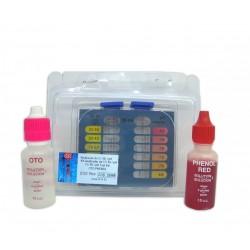 Analizador químico de gotas para cloro y ph