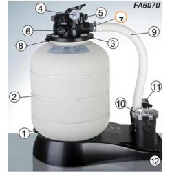Repuestos depuradora GRE FA6070