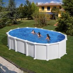 PACK ESPECIAL - Piscina Ovalada 500x300x132 Acero BLANCO  GRE - Filtro arena