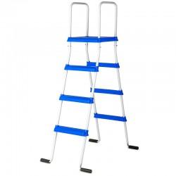 Escalera standard GRE 133 cm con plataforma piscina de superficie - 2x3 peldaños